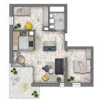 mieszkania lublin zemborzyce -B1 M2