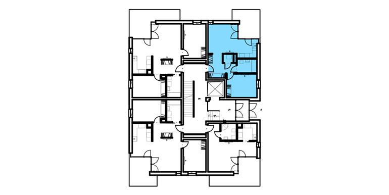 mieszkania lublin zemborzyce  - rzut - B1 M4