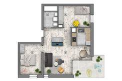 mieszkania lublin zemborzyce - B7 M4