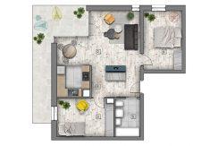 mieszkania lublin zemborzyce - B1 M7