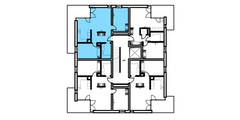 mieszkania lublin zemborzyce  - rzut - B1 M7