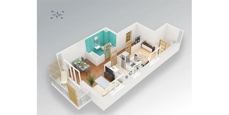 2 pokoje &#8211; balkon &#8211; 51,18m<sup>2</sup>