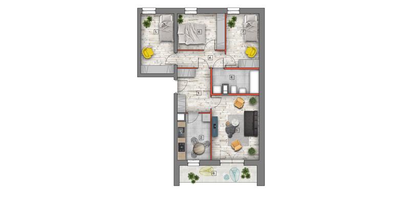 deweloperskie mieszkania lublin B4/B5 M20