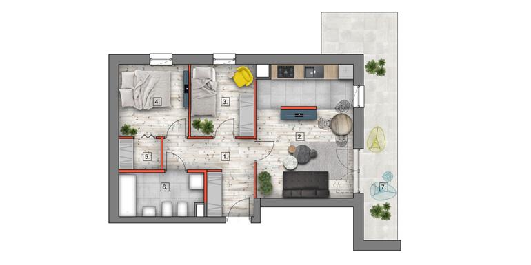 mieszkanie na sprzedaż lublin - B4/B5 M34