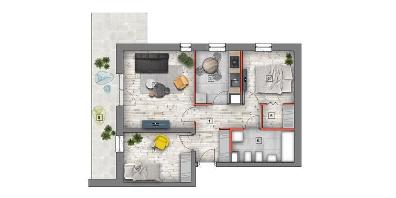 deweloperskie mieszkania lublin B4/B5 M8