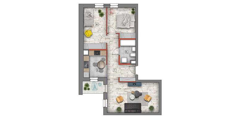mieszkanie na sprzedaż lublin B4/B5 M42