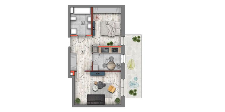 mieszkanie na sprzedaż lublin B4/B5 M52