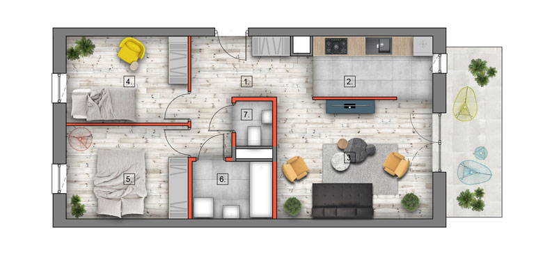 deweloperskie mieszkania lublin B4/B5 M53