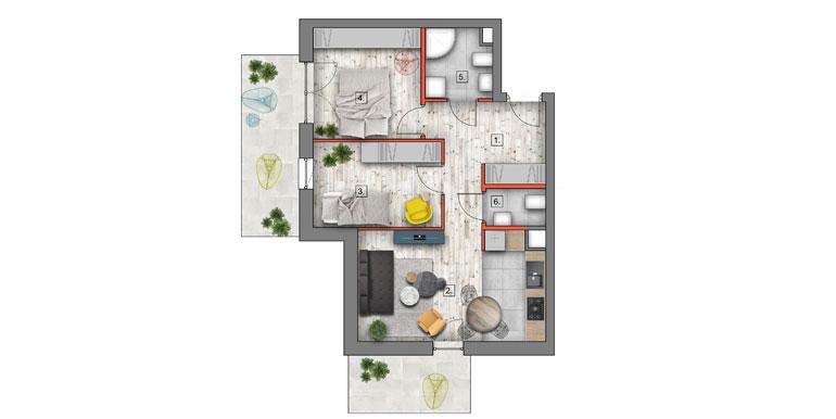deweloperskie mieszkania lublin B4/B5 M6