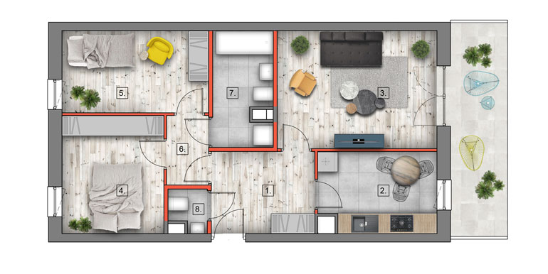 mieszkanie na sprzedaż lublin B4/B5 M60