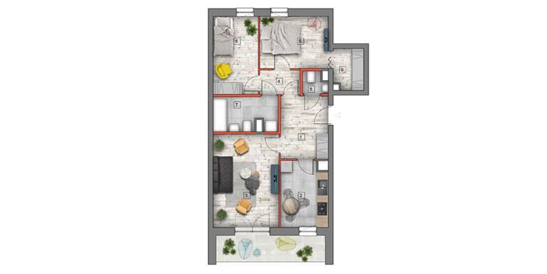mieszkanie na sprzedaż lublin B4/B5 M63